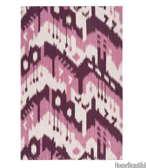purple ikat rug
