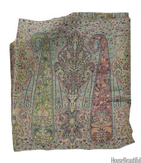 antique paisley fabric