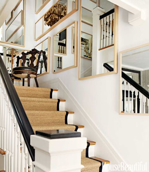 black trim staircase runner
