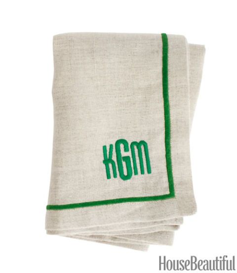 linen monogram napkin