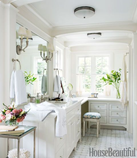 An Expansive His And Hers Bathroom