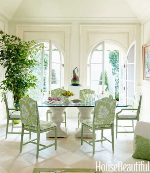 house beautiful dining rooms | Charming Green Dining Room - House Beautiful Pinterest ...