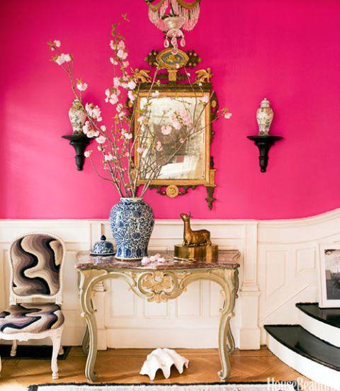 pink foyer