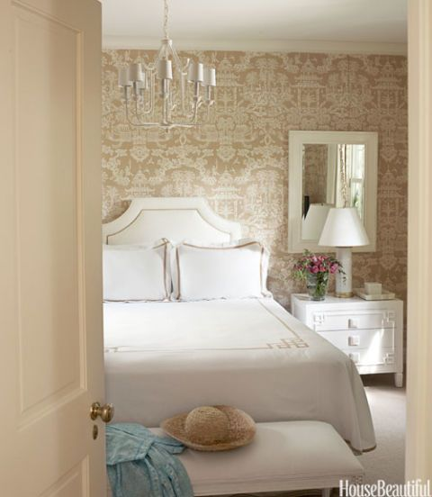 Traditional style rooms traditional decorating ideas for Neutral bedroom wallpaper