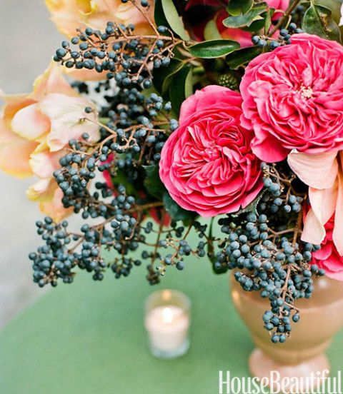 pink and peach flower arrangement