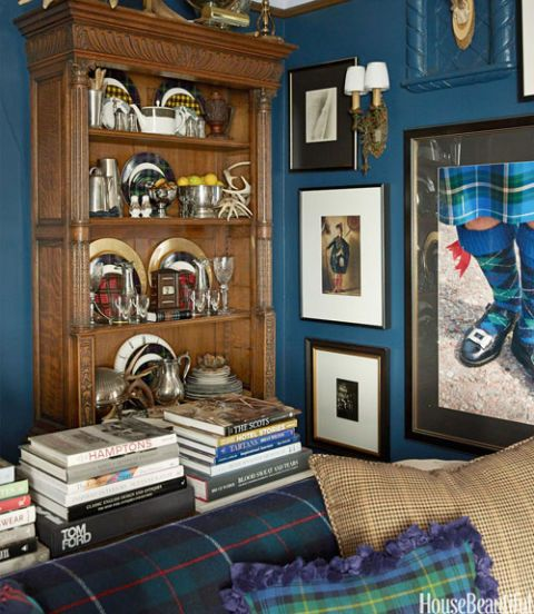 Tartan Home Decor Masculine San Francisco Apartment
