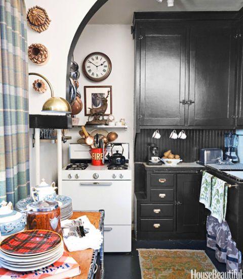 Apartment Kitchen Cabinets: Masculine San Francisco Apartment