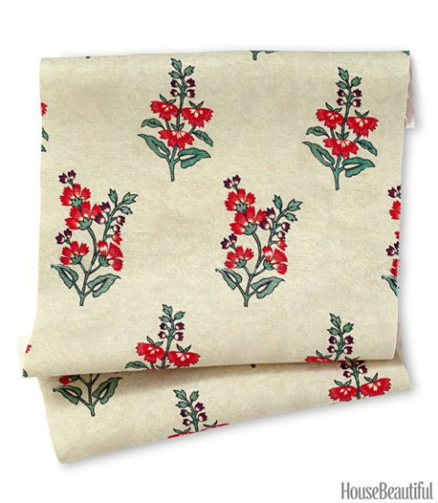 flower in the snow fabric
