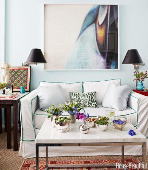Green Trim Sofa