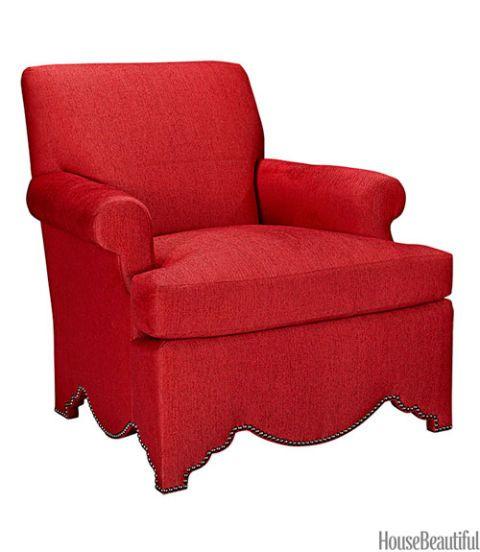 allen scalloped base chair