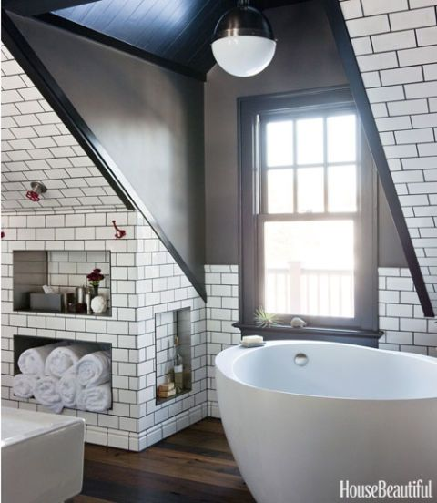 tiled wainscoting