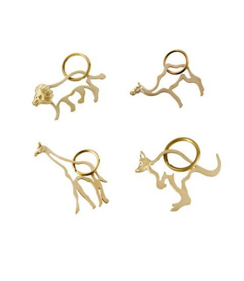 gold animal keyring