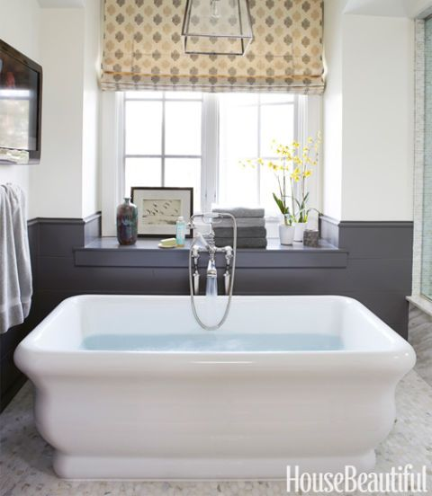 Masculine Master Baths: Bachelor Pad Decorating Ideas