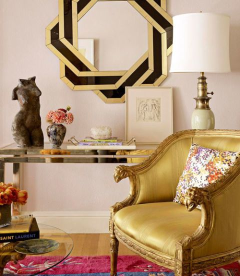 desk with metallic chair