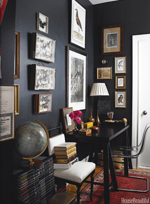 gallery wall ideas salon style walls. Black Bedroom Furniture Sets. Home Design Ideas