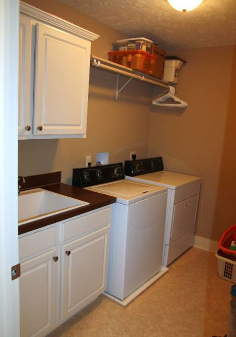 A Boring Laundry Room Gets Glam With 7 Key Moves