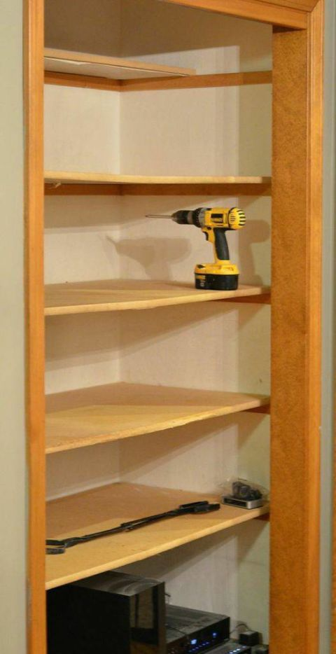 Yellow, Shelf, Shelving, Plywood, Drill, Machine, Collection,