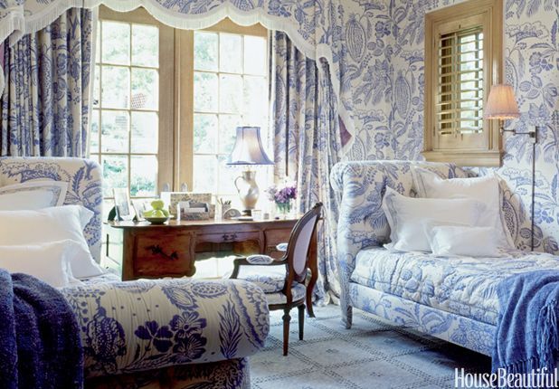Blue and White Decorating - Blue and White Rooms