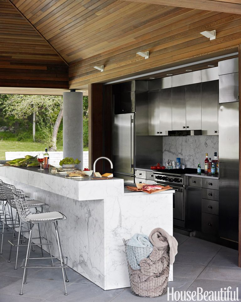 Beyond The Barbecue 15 Streamlined Kitchens For Outdoor: 14 Outdoor Kitchen Design Ideas And Pictures