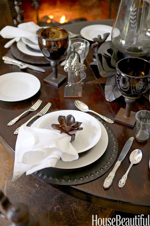 Simple Restaurant Table Setting -