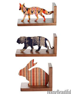 animal bookends