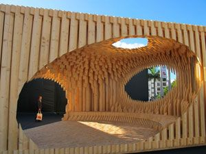 wood installation