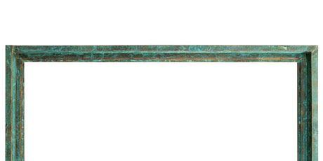copper verdigris picture window