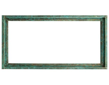 copper verdigris picture window