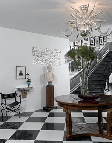 Black and White Foyer