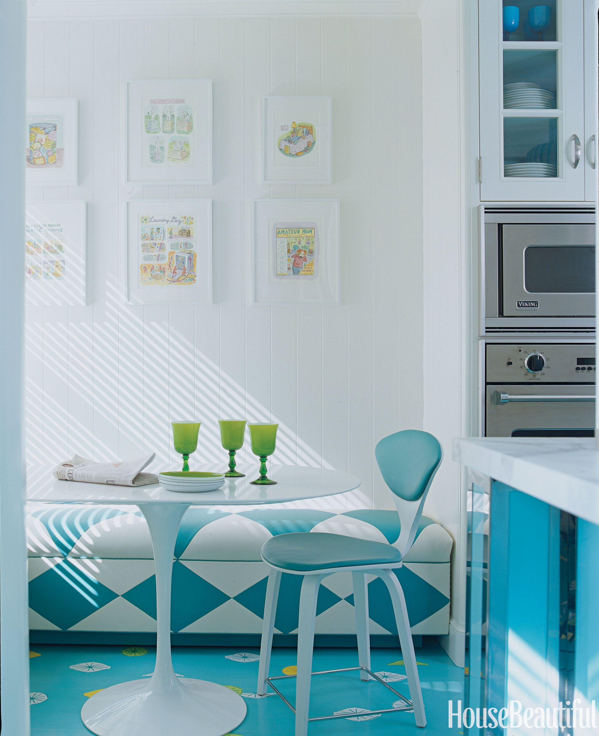 Cool Painted Floors - Chevron and Checkerboard Floor Color