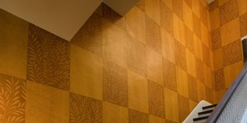 Faux Bois and Decoupage Wall Covering