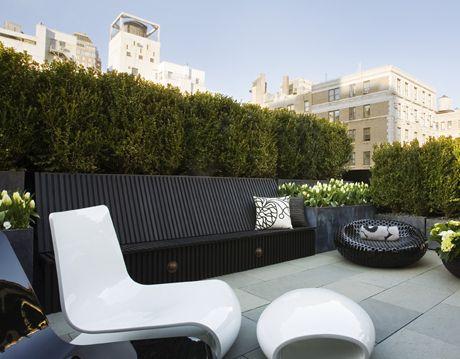 Contemporary Rooftop Patio
