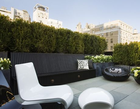 Contemporary Rooftop Patio
