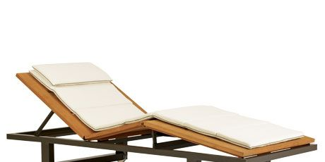 Chaise with White Cushions