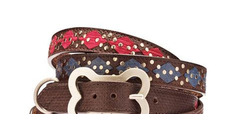 Leather Argyle Collar