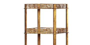 wood etagere