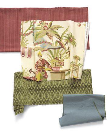 assorted fabrics