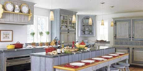 swedish style kitchen with custom made cabinets