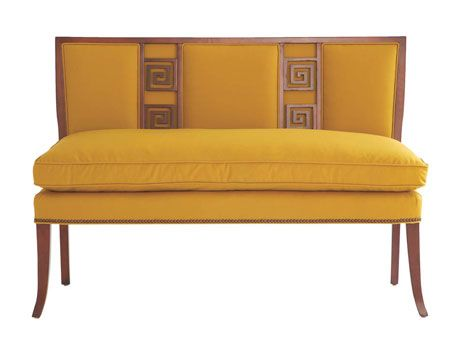 Greek Key Settee By Eric Cohler