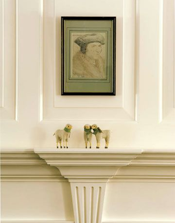 White Mantel And Wall