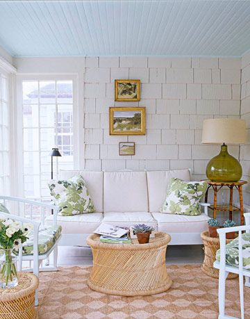 sunporch with white walls
