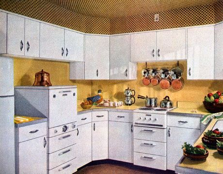Retro Kitchen Decor - 1950s Kitchens on 1955 kitchen appliances, 1955 kitchen trim, refinishing oak cabinets, 1955 kitchen tiles, 1955 kitchen antiques, 1955 kitchen makeover, 1955 kitchen wallpaper, 1955 kitchen tables, 1955 kitchen stoves,