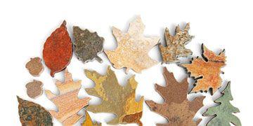 leaf shaped tiles