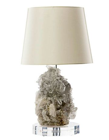 lamp with craggy crystal base