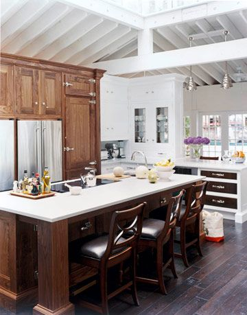 cabinets refrigerator an island inside the kitchen of the year