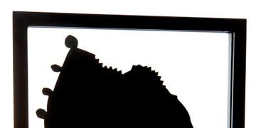 a black and white silhouette of a woman