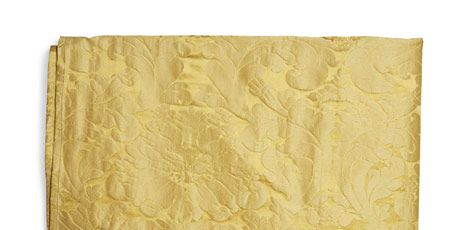This classic damask comes in a golden floral pattern.