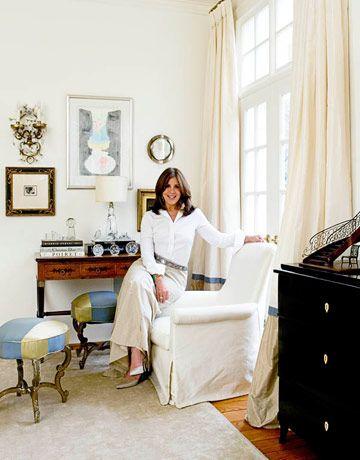 Designer Suzanne Kasler Sitting On A Chair