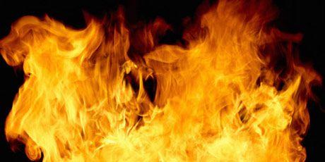 a burst of flames