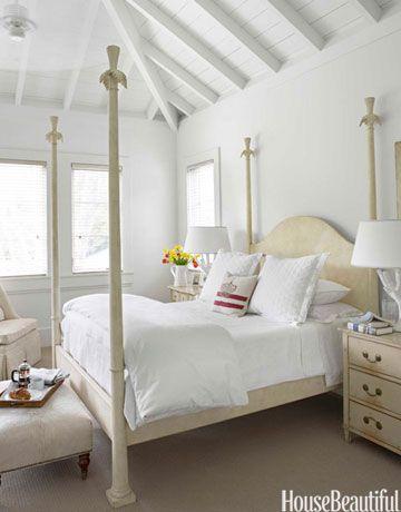cream and white bedroom.  Winter White Room Designs Decorating Ideas